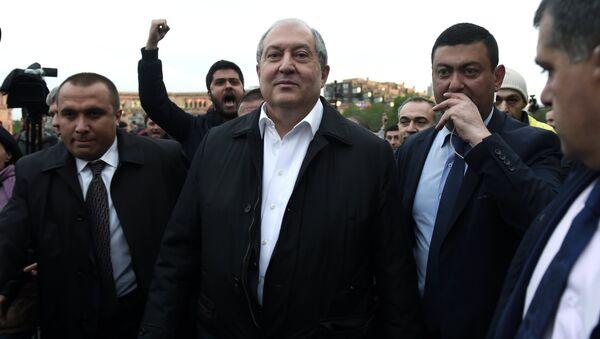 El presidente de Armenia, Armén Sarkisián - Sputnik Mundo