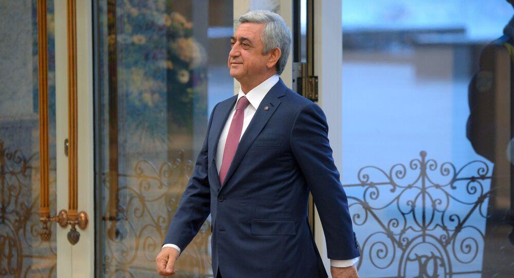 Serzh Sargsián, el primer ministro de Armenia