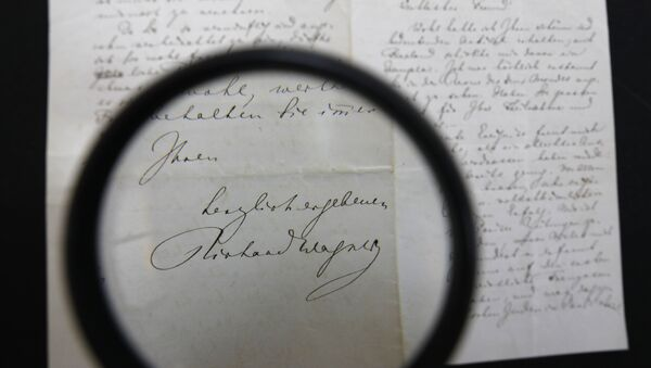 Carta manuscrita de Wagner de contenido antisemita - Sputnik Mundo