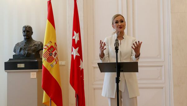 Cristina Cifuentes, la presidenta dimitida de la Comunidad de Madrid - Sputnik Mundo