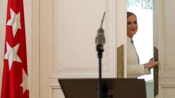 Cristina Cifuentes, expresidenta dimitida de la Comunidad de Madrid - Sputnik Mundo