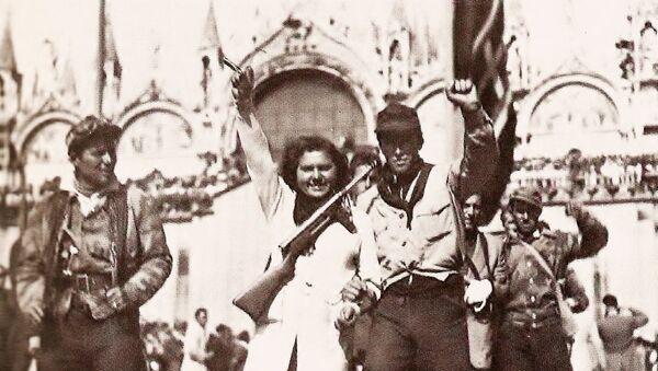 Imágenes de partisanos en Venecia, durante la liberación de la ciudad en 1945 - Sputnik Mundo