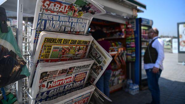 Quiosco de prensa en Turquía (archivo) - Sputnik Mundo