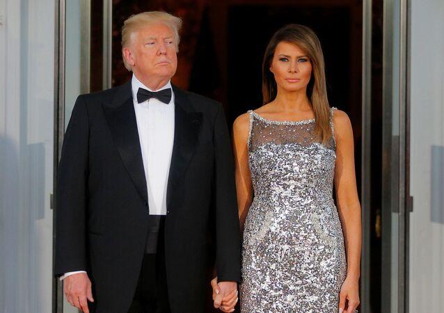El presidente de EEUU, Donald Trump y su esposa, Melania