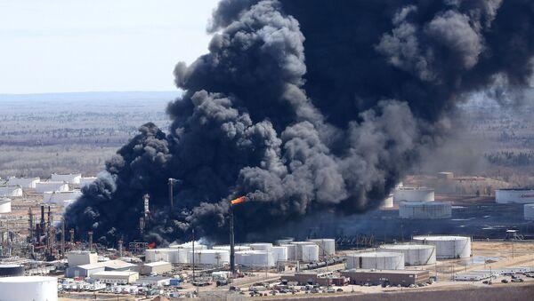 Explosión en una refinería de Superior, Wisconsin - Sputnik Mundo