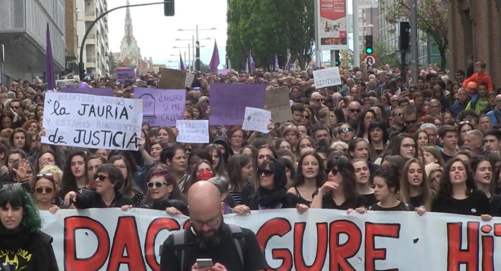 No es abuso, es violación: Pamplona protesta contra el fallo de 'la Manada'