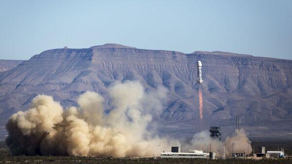 Un ensayo del cohete de la empresa espacial privada Blue Origin (archivo) - Sputnik Mundo