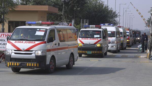 Ambulancia pakistaní (imagen referencial) - Sputnik Mundo