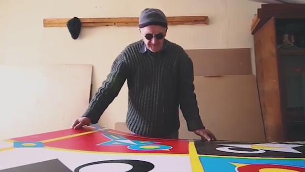 Increíble pero cierto: un artista ciego crea pinturas geométricas - Sputnik Mundo