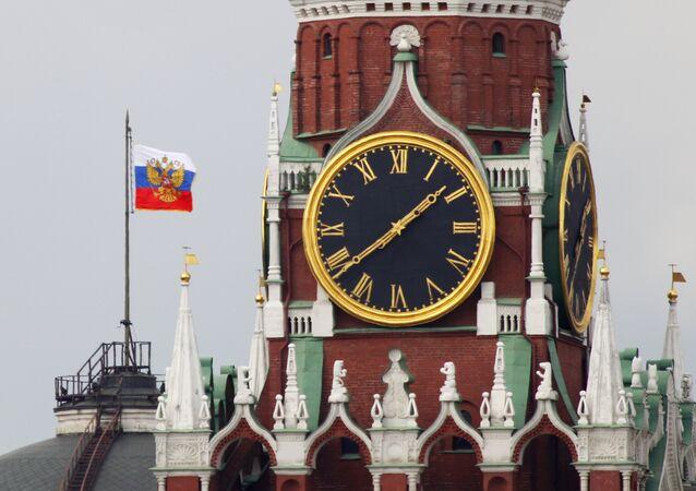 El Estandarte del presidente de la Federación de Rusia en Kremlin