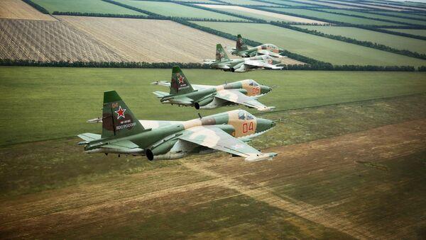 Aviónes rusos Su-25SM3 - Sputnik Mundo
