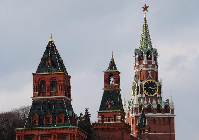 Las torres del Kremlin de Moscú