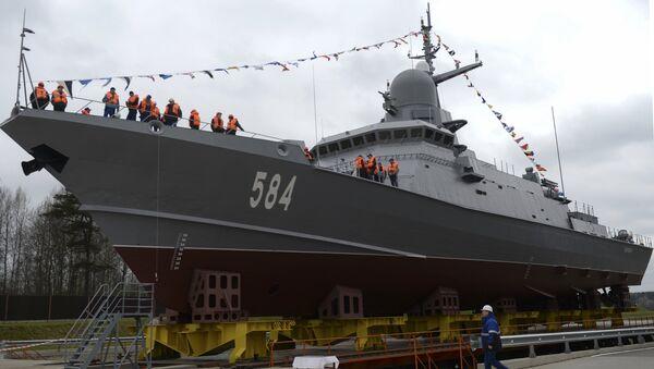 La corbeta Shkval botada en San Petersburgo, Rusia, 5 de mayo de 2018 - Sputnik Mundo
