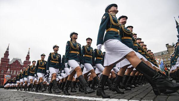 El ensayo general del desfile militar en la Plaza Roja por el 73 aniversario de la Victoria en la Gran Guerra Patria - Sputnik Mundo