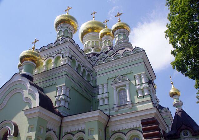 Una iglesia en Kiev, Ucrania