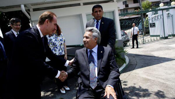 Eduardo Ferrer, presidente de la Corte IDH, y Lenín Moreno, presidente de Ecuador - Sputnik Mundo