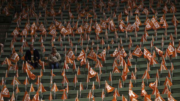 Banderas de Ciudadanos, un partido político español - Sputnik Mundo