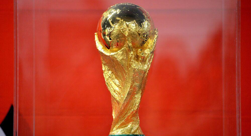 El trofeo del Mundial de fútbol (archivo)