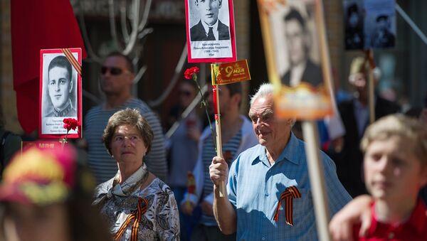 Una marcha del Regimiento Inmortal - Sputnik Mundo