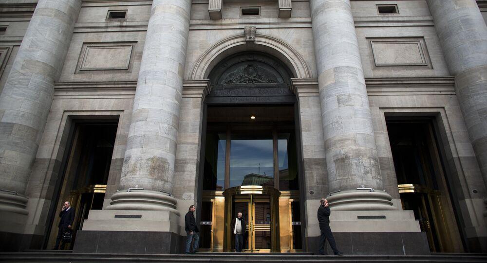El banco central de Argentina en Buenos Aires