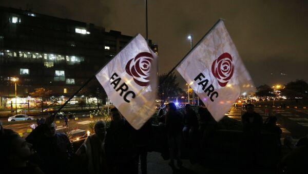El logo del partido político colombiano FARC - Sputnik Mundo