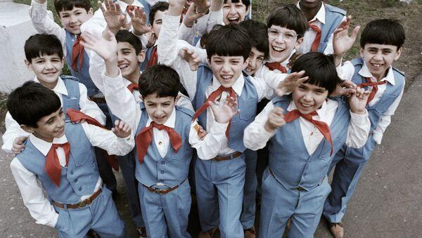 Alumnos de la Escuela Internado de Ivánovo (archivo) - Sputnik Mundo