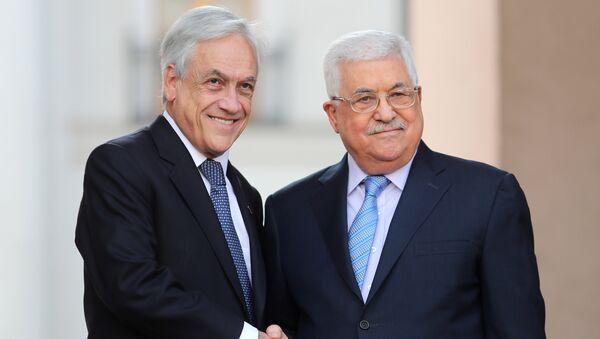 Presidente de Chile, Sebastián Piñera, y presidente palestino, Mahmud Abás - Sputnik Mundo