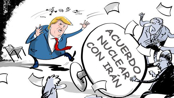 Trump espanta a sus socios transatlánticos al salir del pacto nuclear iraní - Sputnik Mundo