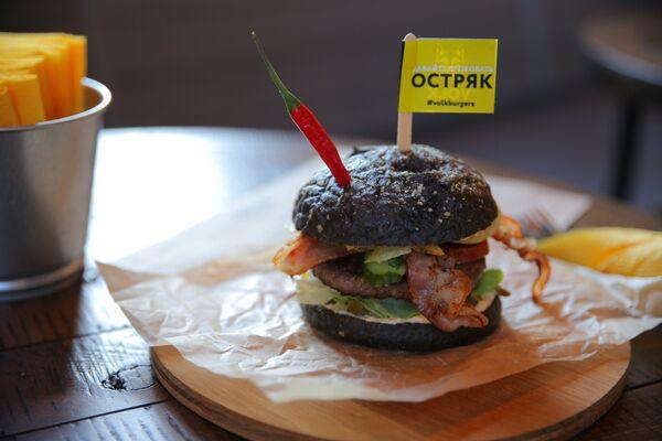 Hamburguesa en VOLK burgers - Sputnik Mundo