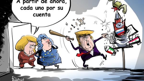A Merkel le parece que es hora de alejarse de Trump - Sputnik Mundo