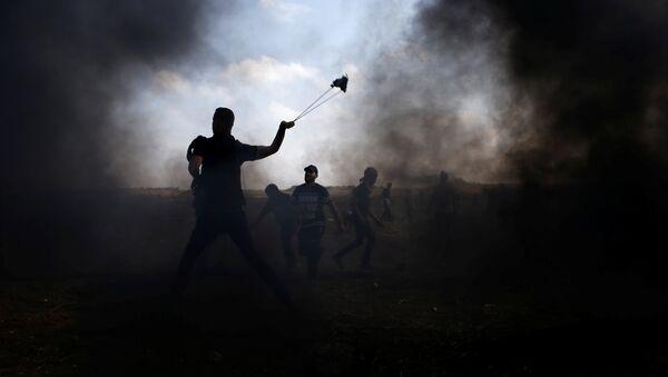 Las protestas en Gaza - Sputnik Mundo