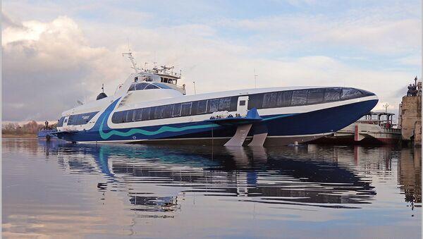 El barco hidroala ruso Kometa 120M durante las pruebas en Sevastopol - Sputnik Mundo