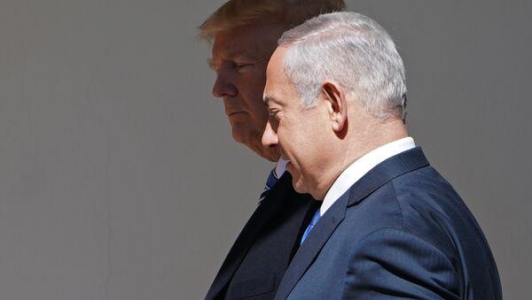 Donald Trump y Benjamín Netanyahu - Sputnik Mundo