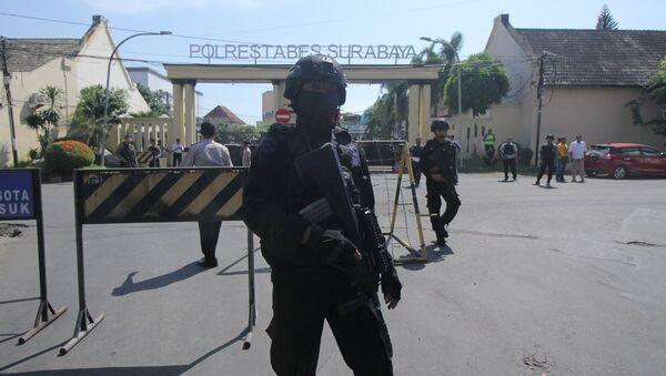 La Policía indonesia - Sputnik Mundo