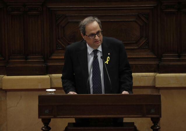 Quim Torra, el candidato a la Presidencia de la Generalitat (Gobierno catalán)