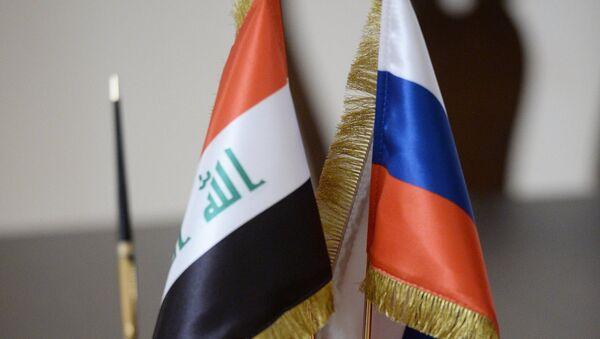 Banderas de Rusia e Irak - Sputnik Mundo