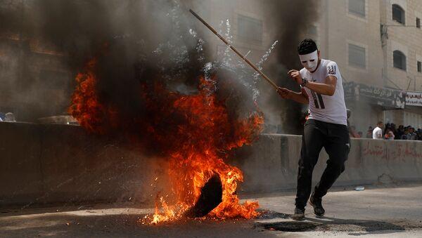 Protestas en Ramala - Sputnik Mundo