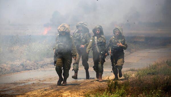 El Ejército de Israel en la frontera con Gaza - Sputnik Mundo