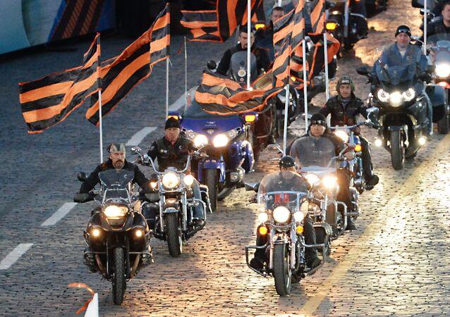 Los motociclistas del club Lobos de la Noche (archivo)