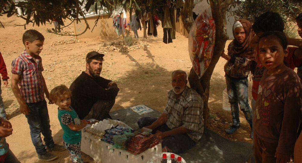 Campo de refugiados Ad Doueir, en la región de Damasco