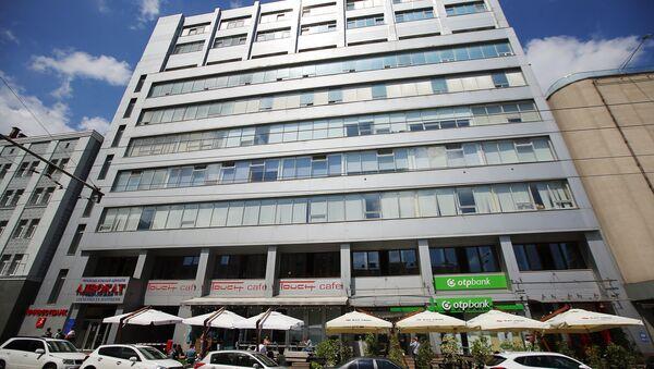 El edificio en que se encuentra la oficina del portal RIA Novosti Ukraina  en Kiev - Sputnik Mundo