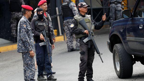 Miembros del Servicio Bolivariano de Inteligencia Nacional (Sebin) - Sputnik Mundo