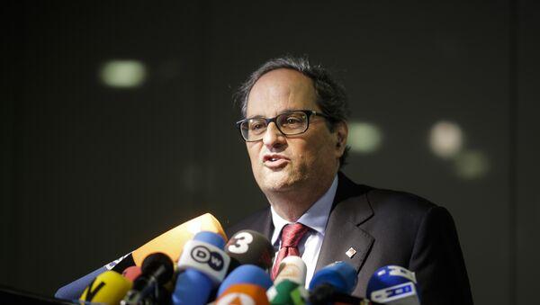 Quim Torra, el nuevo presidente del Gobierno catalán - Sputnik Mundo