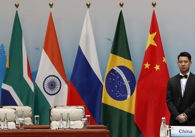 Banderas de los países miembros de los BRICS