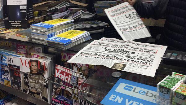 Quiosco de prensa en Francia (imagen referencial) - Sputnik Mundo