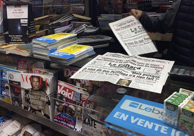 Quiosco de prensa en Francia (imagen referencial)