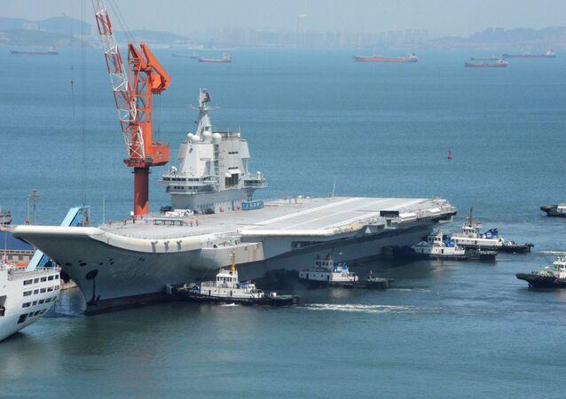 El primer portaviones de fabricación china, conocido como 'Type 001A'