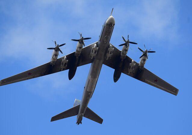 El bombardero ruso Tu-95MS