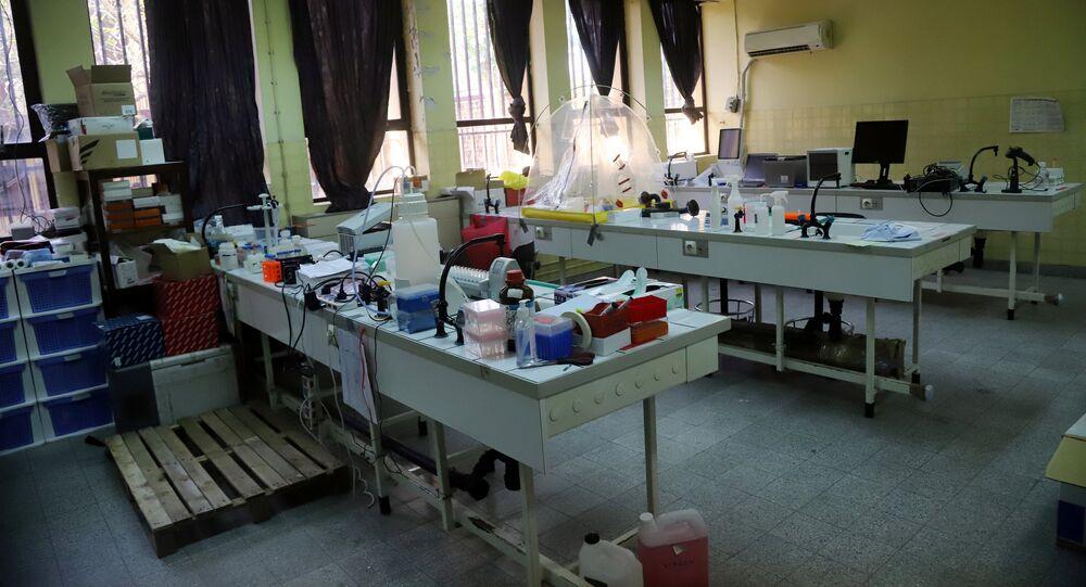 Un laboratorio en Kinshasa, la capital de la República Democrática del Congo