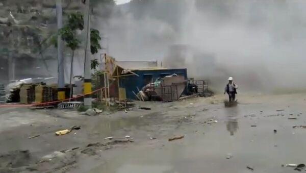 Publican un vídeo del derrumbe de una presa en Colombia - Sputnik Mundo